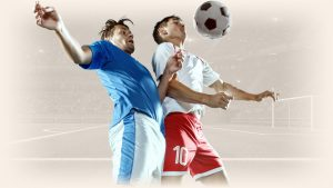 soccer players struggling for the ball